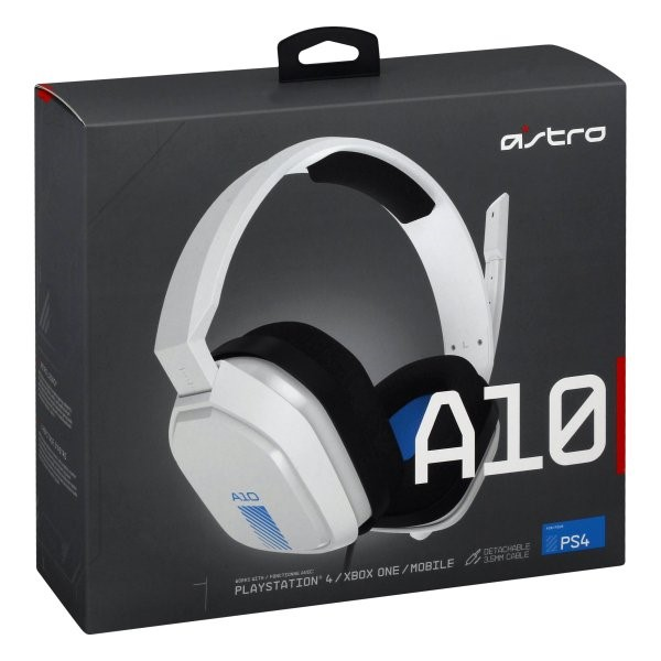HEADSET ASTRO A10 PS4 EDITION - WHITE 939-001845
